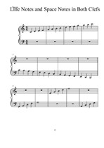 Lines and Spaces on Both Clefs for Piano